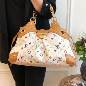 Authentic Louis Vuitton Multicolor Ursula white